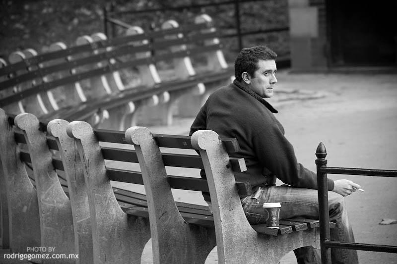Central Park - Tomando Café