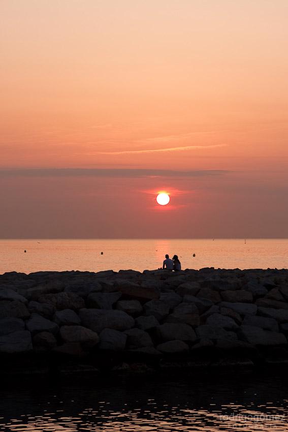 Amanecer del 12 de Agosto del 2009... en el Mediterráneo
