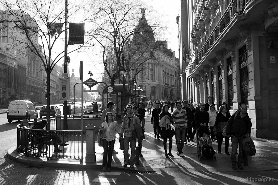 Al cruzar... - Madrid