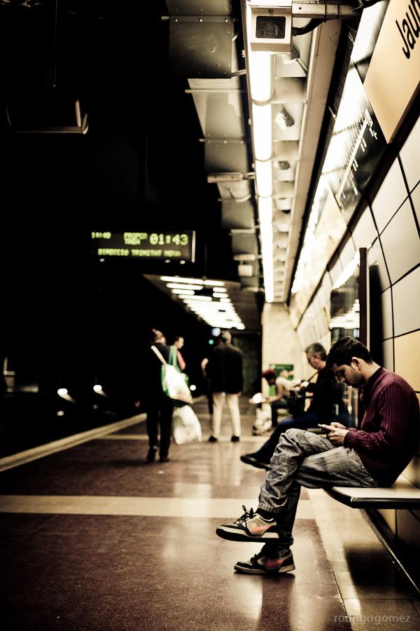 Esperando en Jaume I - Barcelona